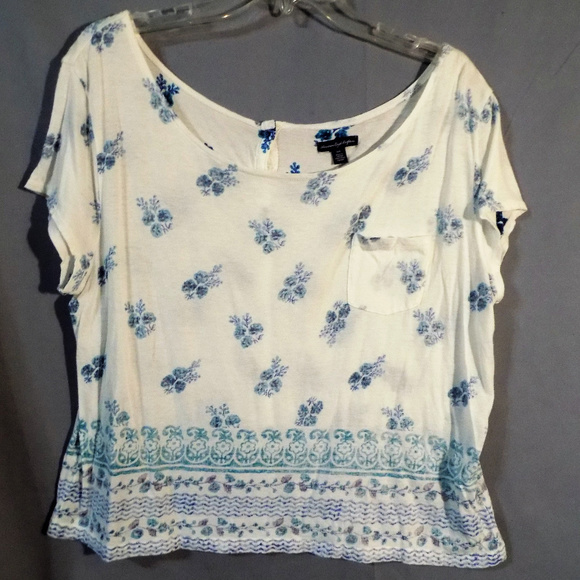 American Eagle Outfitters Tops Button Up The Back Blouse Poshmark
